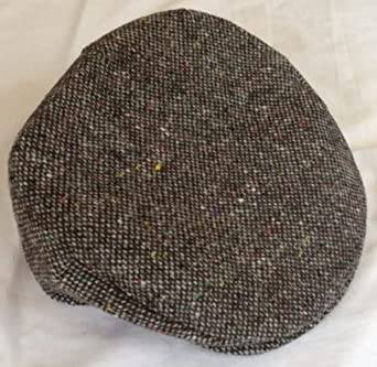 Irish Shopper Grey Plain Donegal Tweed Vintage Cap Hanna Hats Hanna Caps  Irish Ireland Small 56 ae6b10133b8
