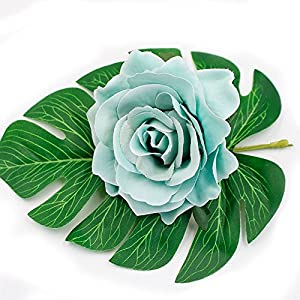 8pcs/lot 10cm Big Silk Blooming Roses Artificial Flower Head for Wedding Decoration DIY Wreath Gift Scrapbooking Craft Flower 5