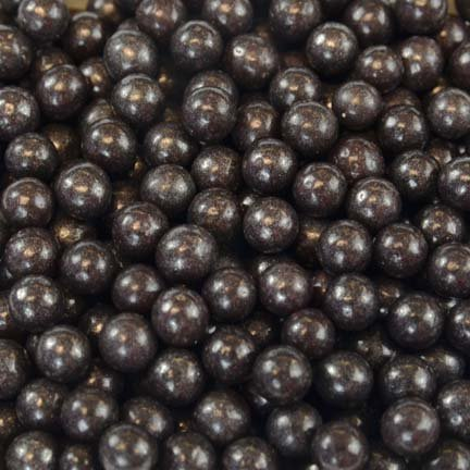 Black Pearl Dragees 4mm, 2 Pounds by Chef Alan Tetreault