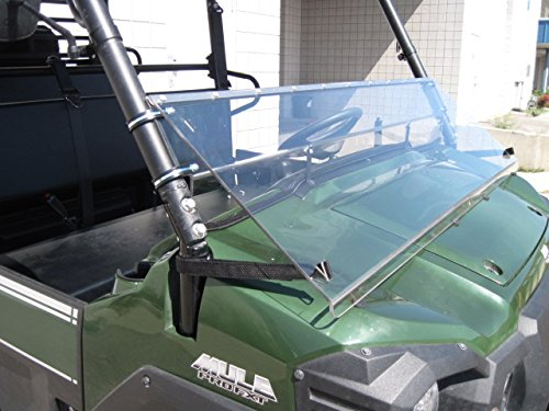 Kawasaki Mule Pro Series 2015 and Newer FULL-TILT WINDSHIELD. We need to know what kind of roof you have Hard or Soft? Check email/junk file for message after order is placed by UTV Windshields and Accessories (Image #8)
