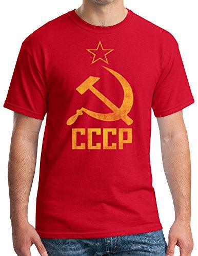 - T-Shirt - CCCP - Hammer & Sickl,Red,Medium