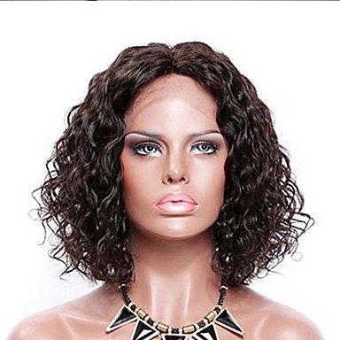 Wigs Human Hair Brazilian Hair Curly Short Bob/Bob Haircut 130% Density With Baby