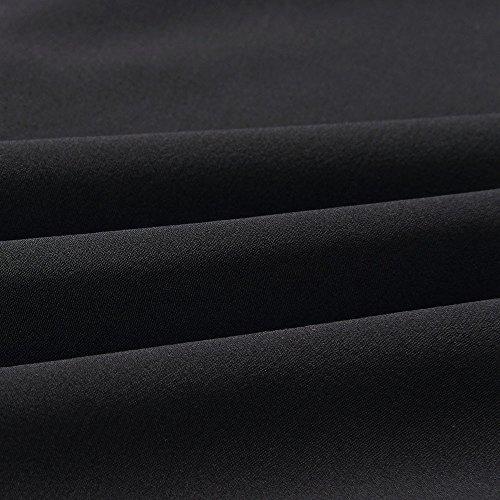 lgant Longues T Femme Printemps Casual Automne Revers Chic Boucle Blouses Noir Tops Solike avec Manches Shirt Col Loose Blouse 0Iqwd0