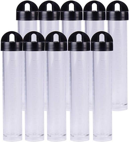BENECREAT 30 PCS Tubo de Ensayo Plastico Botella Plastica Tubo ...