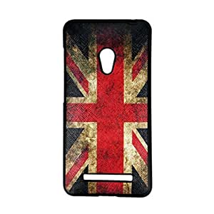 Thinklink Flexible Soft Gel Tpu Silicone Rubber Skin Slim Back Case Cover For ASUS Zenfone 5 Retro The British Union Jack UK Flag Design