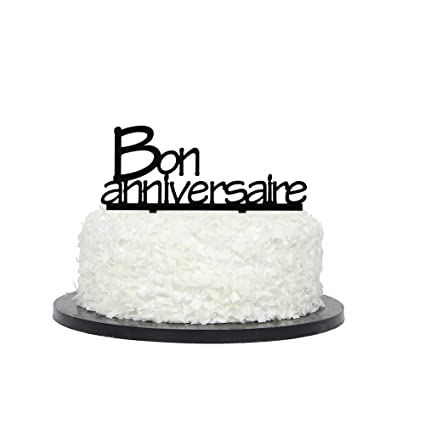Image Unavailable Not Available For Color Bon Anniversaire Cake Topper
