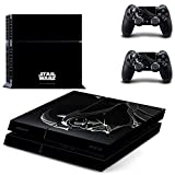 M185 New Darth Wader Star Wars Classic Skin Stickers + 2 LED LightBar Decals for Sony PS4 and 2 Controllers Skin Covers