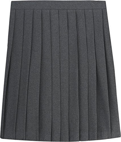 Grey Pleated Uniform Skirt
