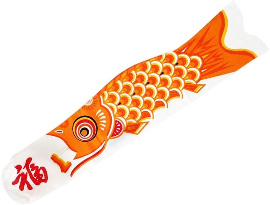 HomeDecTime Drapeau De Carpe D/écoratif Japonais Koi Nobori Sailfish Orange 15cm