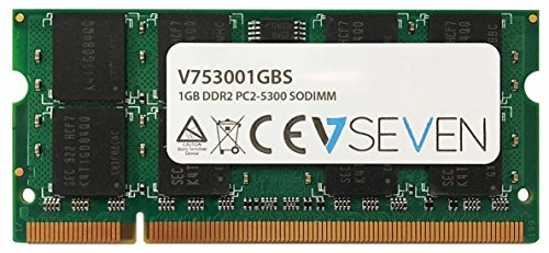 V7 V753001GBS 1GB DDR2 PC2-5300 667Mhz 1.8V SO DIMM Notebook Memory Module