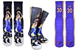 Forever Fanatics Golden State Steph Curry #30 Basketball Crew Socks ✓ Stephen Curry Autographed ✓ One Size Fits All Sizes 6-13 ✓ Made In USA ✓ Ultimate Basketball Fan Gift (Size 6-13, Curry #30)