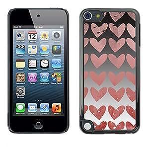 Paccase / SLIM PC / Aliminium Casa Carcasa Funda Case Cover para - Hearts Wallpaper Pink Love Relationship - Apple iPod Touch 5