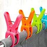 HiGift 8 Pack Beach Towel Clips for Beach Chairs