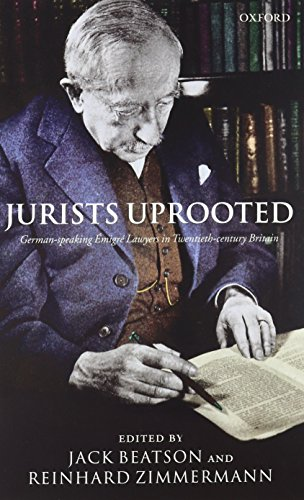 Jurists Uprooted: German-speaking Émigré Lawyers in Twentieth-century Britain by Oxford University Press
