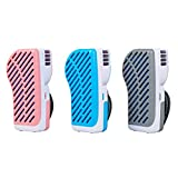 LOHOME Handy Cooler Small Fan, Mini-Air Conditioner Portable Speed Adjustable Fan Runs on Batteries or USB (Grey)