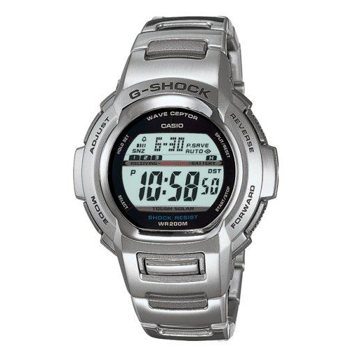 Casio GW-600DU-1VER - Reloj digital de cuarzo para hombre con correa de metal, color plateado: Amazon.es: Relojes