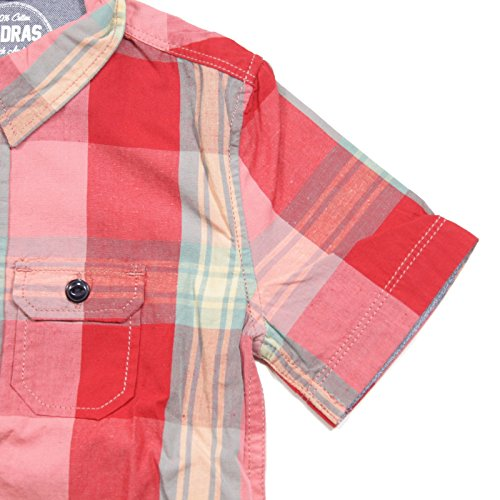 Manica Woolrich Bimbo Madras shirts T Rosso A0002 Corta Kids Camicia 6qIgtxwwS