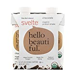 CalNaturale Svelte Organic Protein Shake, Chocolate, 11 Ounce, 4 Count (Pack of 6)