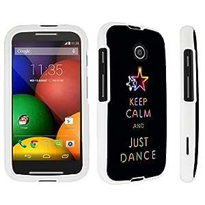 DuroCase ? Motorola Moto E (2014 Released) Hard Case White - (Keep Calm Dance) by icecream design
