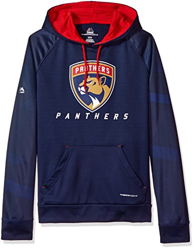 Athletic Majestic Hood (VF LSG NHL Florida Panthers Men's Penalty Shot Long Sleeve Fleece Hoodie, Medium, Navy/Red)