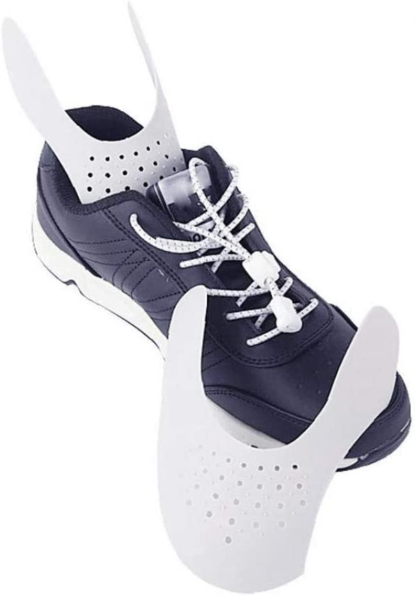 Hotaden Chaussures Anti-Rides Plis Protector Toe bo/îte d/égraissant Blanc Toe Prevent Chausse 4 Paires Pli Indentation