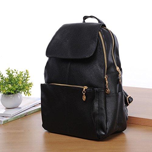 XENO-Women's New Backpack Travel PU Leather Handbag Rucksack Shoulder School Bag - Wemo Starter