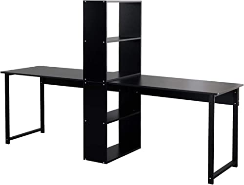 sogesfurniture Large Double Workstation Computer Desk Dual Desk Home Office Desk 2-Person Computer Desk Computer desk