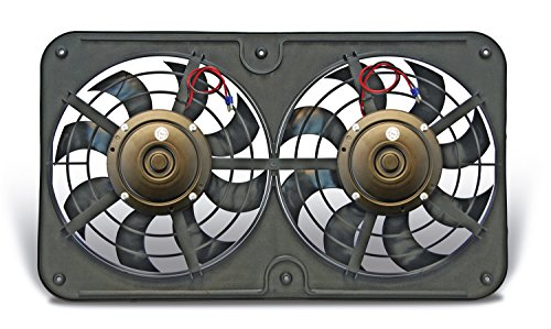 "Flex-a-lite 432 Lo-Profile S-blade 12"" Dual Electric Pusher Fan"