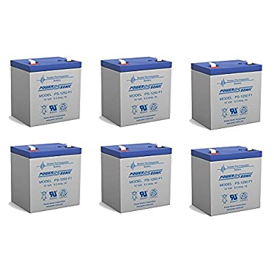 Powersonic Vision CP1250 Battery - 6 Pack