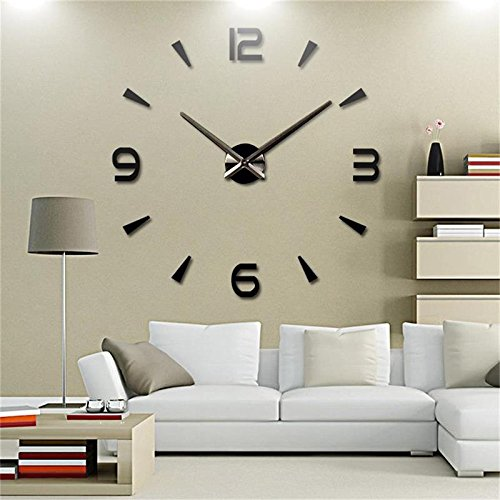 yunli HOT SALE New Wall Clock Reloj De Pared Quartz Watch Living Room Large Decorative Clocks Modern Horloge Murale Stickers