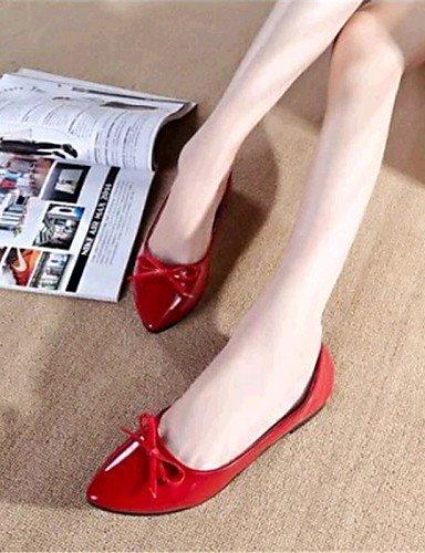 5 Mujer Zapatos Cn38 Uk5 Pisos Piel De casual Black Eu38 Sinttica Taln Al 5 us7 Pdx Aire Comodidad Libre rojo Plano Negro blanco de fgxHWw