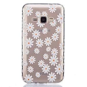 case cover para Samsung Galaxy J1 (2016 Version) SM-J120,Crisant crisantemo Diseño Protección suave Transparente TPU Gel silicona Teléfono Celular Back funda Carcasa para Samsung Galaxy J1 (2016 Version) SM-J120