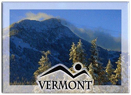 Vermont Skiing Mountains Refrigerator Magnet