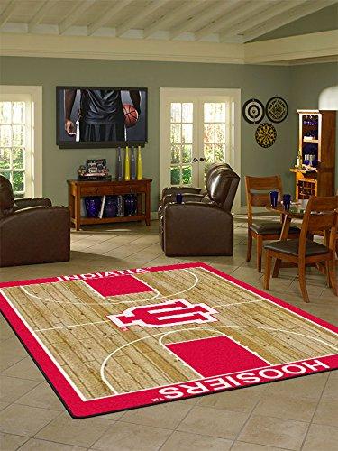 Indiana College Home Basketball Court Rug: 5'4