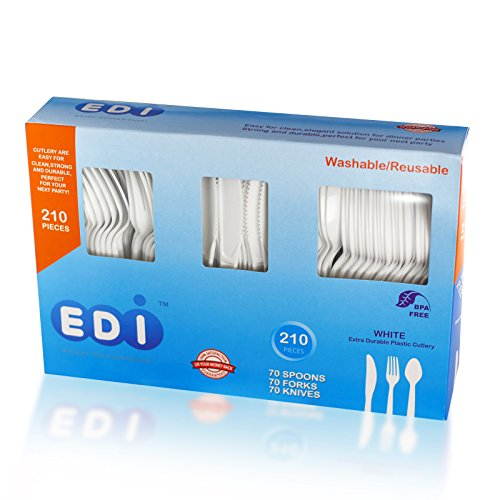 Buy white combo knife spoon fork disposables