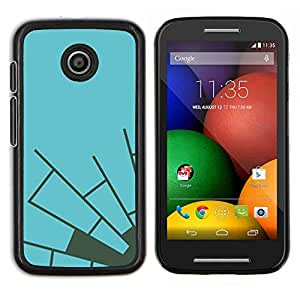 LECELL--Funda protectora / Cubierta / Piel For Motorola Moto E -- Azul Gris Telaraña minimalista --