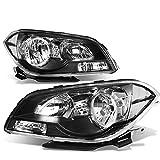 For Chevy Malibu 7th Gen Sedan Pair of Pair Black Housing Clear Corner Headlight Lamp