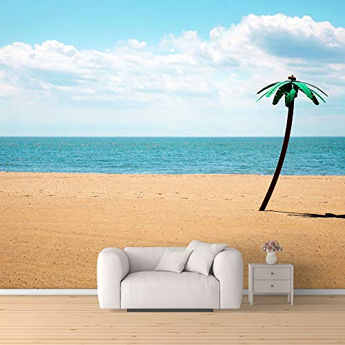 Wall Mural Romantic Beach Removable Wallpaper Wall Sticker for Bedroom Living Room
