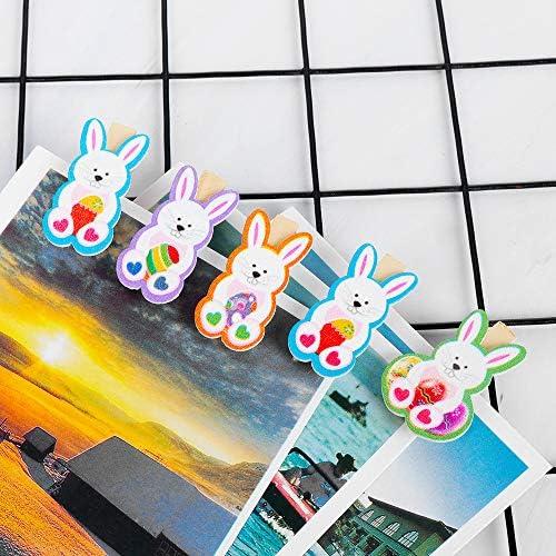 memo per Foto Set di 10 mollette in Legno a Forma di Coniglio VAVAMAX Decorazioni di Pasqua Carta Biglietti