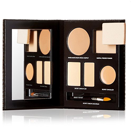 Laura Mercier The Flawless Face Book - # Sand (1x Creme Compact, 1x Pressed Powder w/ sponge, 1x Secret Camouflage...) 5pcs ()