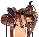 AceRugs Youth Kids Beginner Western Horse Saddle Pleasure Trail Barrel Racing Ranch Work Leather TACK Package