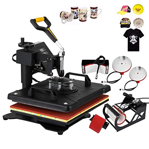 OrangeA 12x15 Inch 5 IN1 Heat Press Digital LED Controller T Shirt Press Machine Multifunction Sublimation Heat Transfer Press Swing-away Design (5IN1 12x15 Inch) by OrangeA