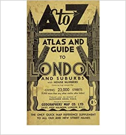 Az Street Map Of London.London Street Atlas A Z Street Maps Atlases Geographers A Z