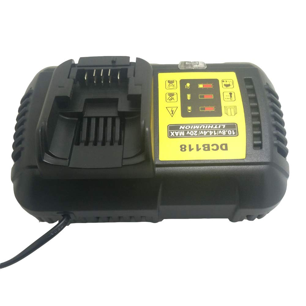 LaiPuDuo DCB118 For Dewalt 10.8V 12V 14.4V 18V Li-ion Battery Charger for DCB101 DCB115 DCB107 DCB105 DCB140 for Dewalt Battery DCB200 DCB205 DCB203 DCB204 DCB206 DCB201 DCB120 DCB127 Shenzhen Chengxinqi Co. Ltd