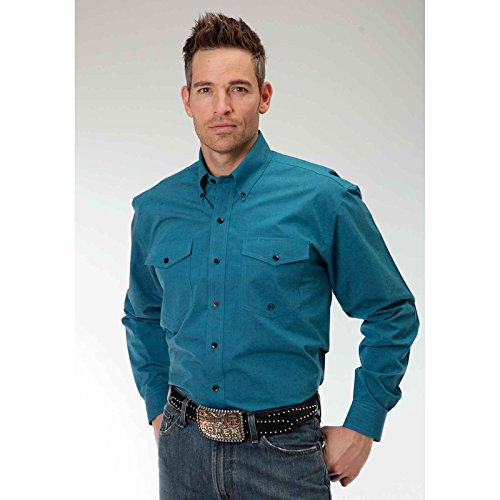 Black Fill Poplin - Teal Men146s Amarillo Collection- Teal Glass (3xl) - Urban Glasses Outfitters