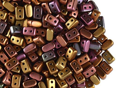 50Pcs Ios Par Puca Beads  Yellow Gold Metallic Iris