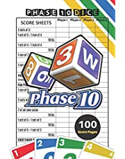 Phase 10 Score Sheets: V.4 Perfect 100 Phase Ten Score Sheets for Phase 10 Dice Game 4 Players | Nice Obvious Text | Small size 6*9 inch (Gift)