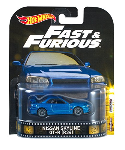 Hot Wheels Nissan Skyline GT-R Vehicle (Nissan Skyline R34 Gtr Fast And Furious)
