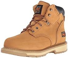 "Timberland PRO Men's Pitboss 6"" Steel-Toe Boot, Wheat , 10 D - Medium"