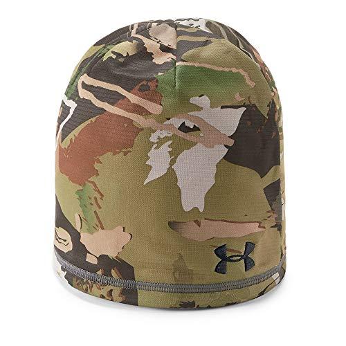 Under Armour Men's Reversible Fleece 2.0 Beanie, Ua Forest Camo (940)/Black, One -